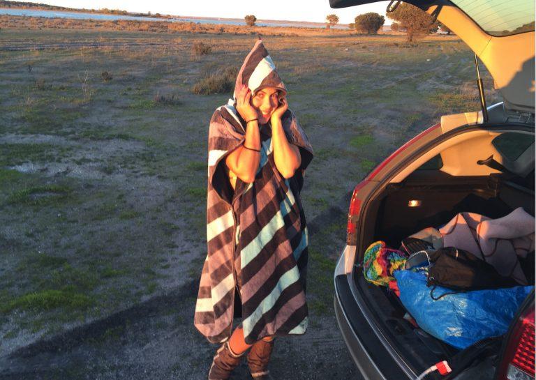 utilizar um poncho no kitesurf